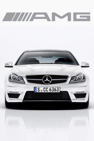 2011 C204 C63amg Coupe Iphone 01 Mercedes Benz Wallpaper